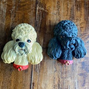 Vintage Bossons Poodles - Chalkware Wall Plaque